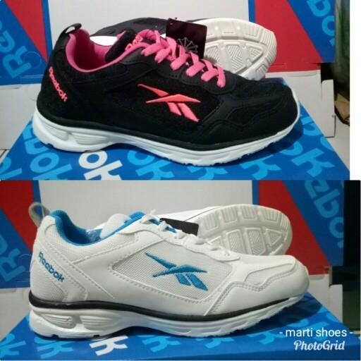 harga Sepatu olahraga reebok putih tosca/hitam pink women Tokopedia.com