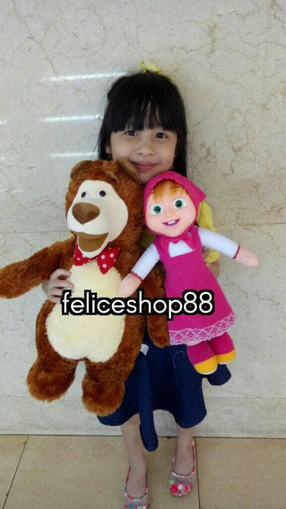 harga Boneka 1set bear dan marsya Tokopedia.com