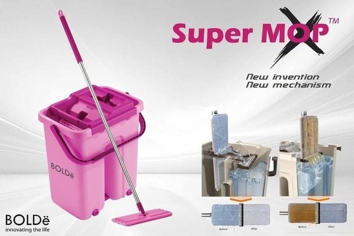 Super Mop X Bolde Supermop X / Bolde Original Alat Pel Bolde - PINK