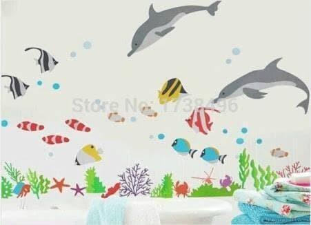 Wall Sticker/Wall Stiker Transparan 50X70-Ay752-Under Ocean