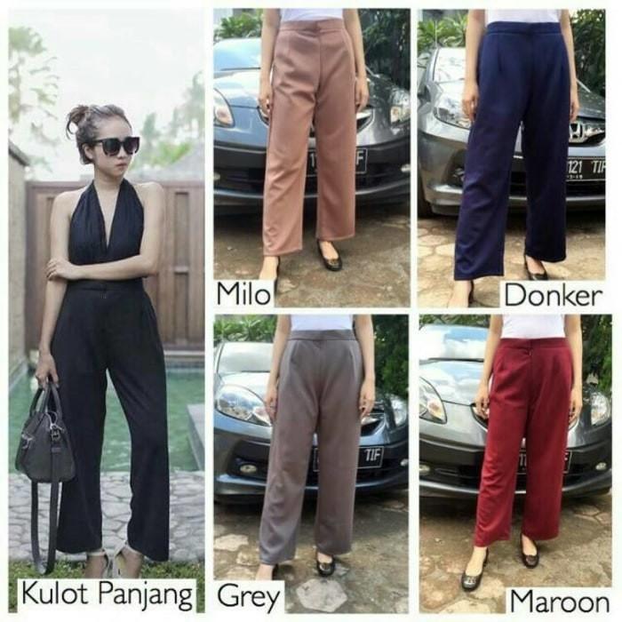 Ready Celana Panjang Wanita Kulot 3R - Cullote Scuba Formal/Casual