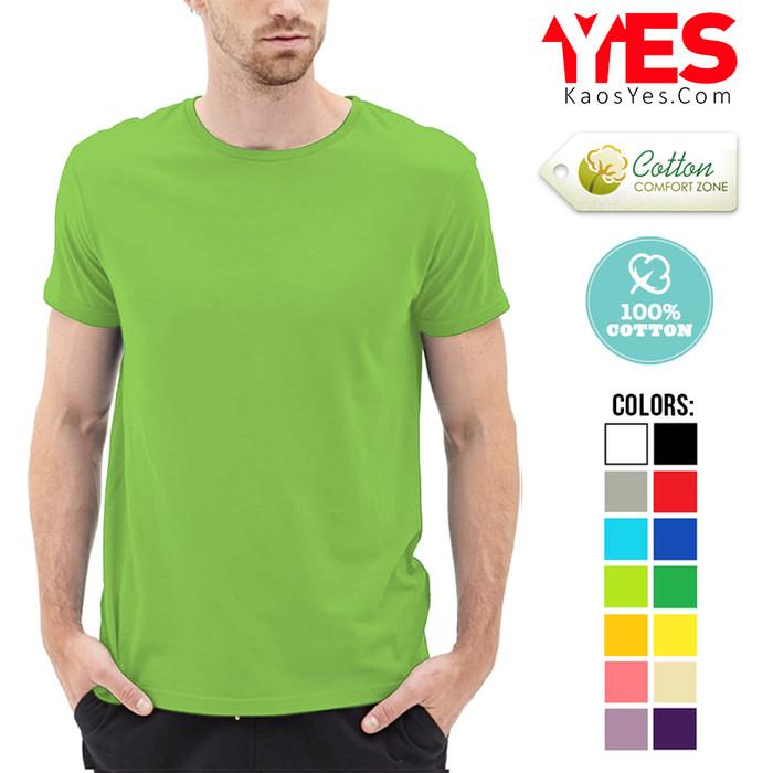 KaosYES Kaos Polos T-Shirt O-NECK LENGAN PENDEK - Biru Muda, XXXL