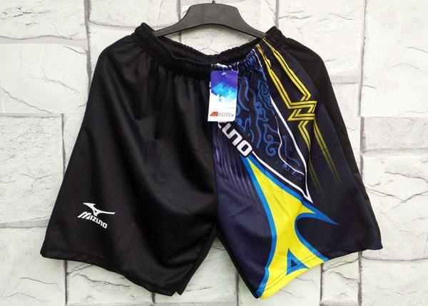 Celana pendek mizuno premium hitam olahraga murah volly futsal c603653ee2