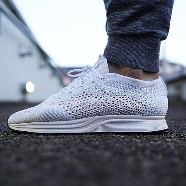 1a8a93cf08542 Jual Nike Flyknit Racer Triple White Premium Original   sepatu ...
