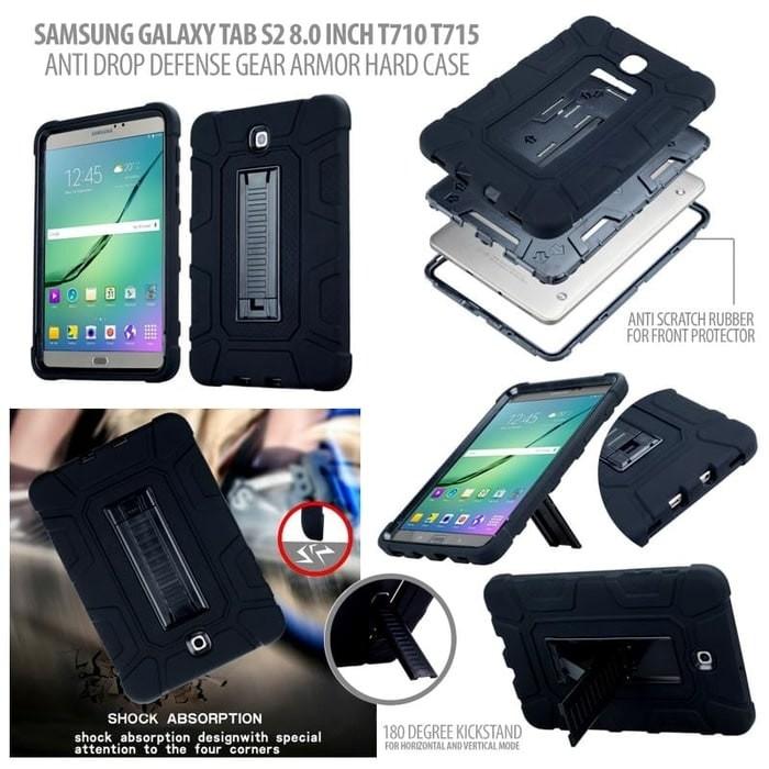 harga Samsung tab s2 8.0 8  sm t715y t719y anti drop armor case casing cover Tokopedia.com