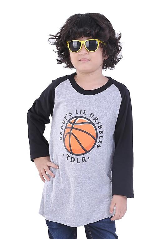 Xcxg kaos oblong t shirt tangan panjang distro anak cowok basketball