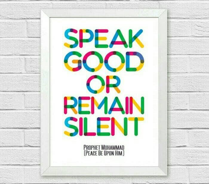 harga Poster inspirasi islami hiasan dinding  speak good or remain silent Tokopedia.com