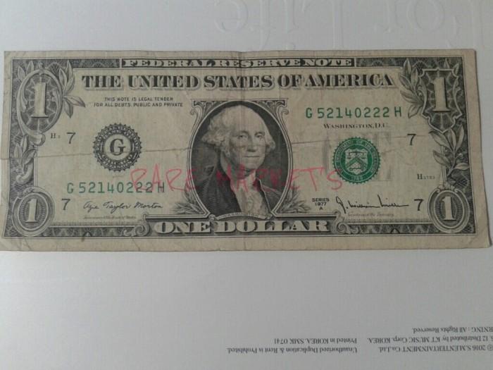 Jual Uang Lama Kuno Amerika 1 Dollar Kertas Tahun 1977 Super Langka Kota Bandar Lampung Rare Market S Tokopedia