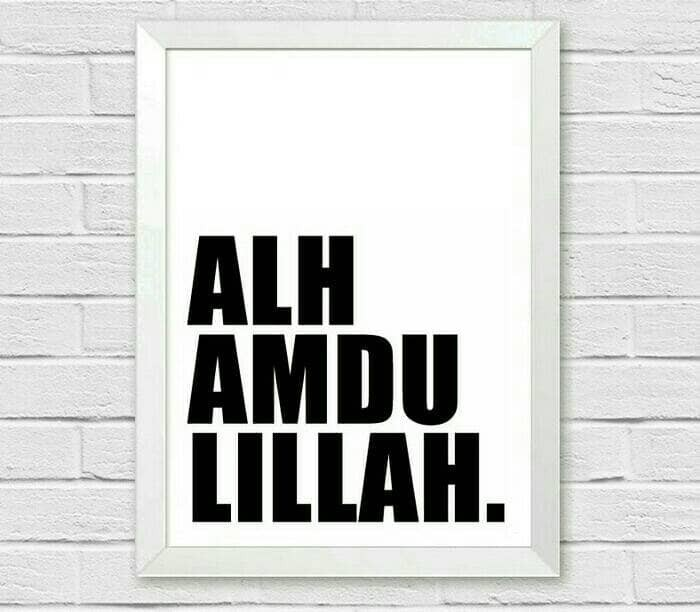 harga Poster hiasan dinding dekorasi rumah islami  alhamdulillah Tokopedia.com