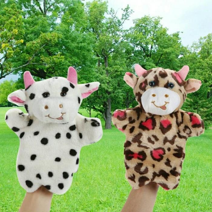 harga Cute milk cow boneka tangan karakter sapi lucu mainan bayi anak Tokopedia.com