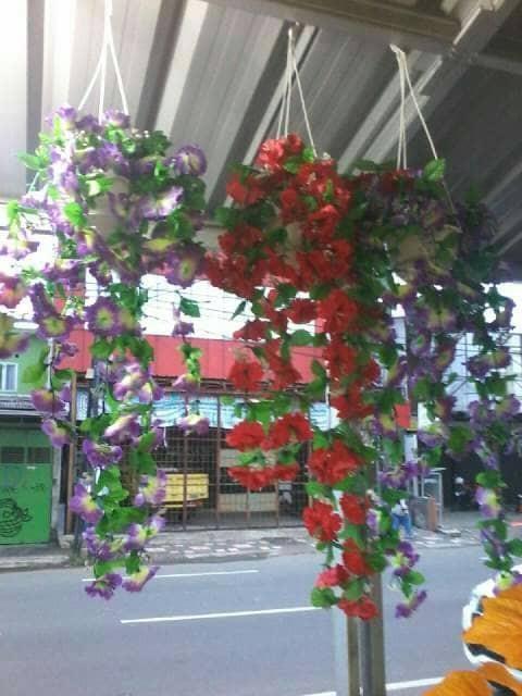 Jual Rambat Gantung Bunga Plastik Kota Bogor Fatih Bunga Plastik Tokopedia