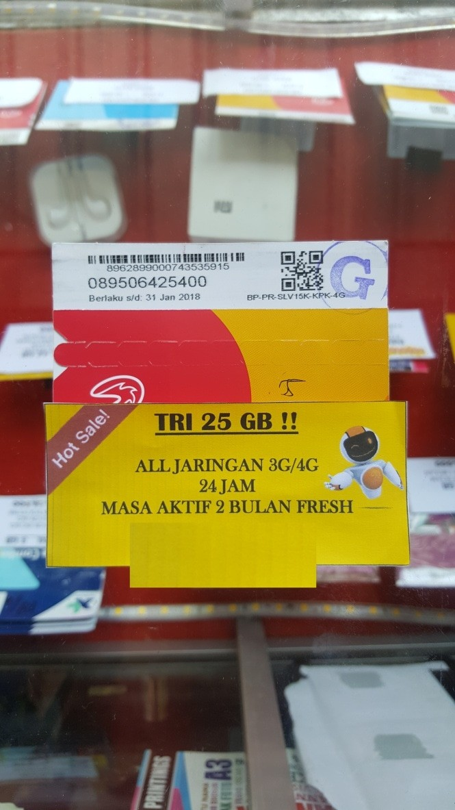 Tri Kuota 2 25gb Daftar Harga Terupdate Indonesia Kartu Perdana Dan Paket Data Mix 225gb Internet Unlimited 3g 4g 24 Jam