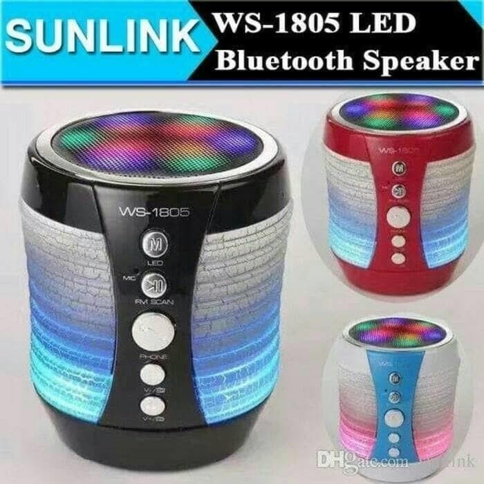 harga Speaker bluetooth wireless mini hifi portable ws 1805 lampu disco Tokopedia.com