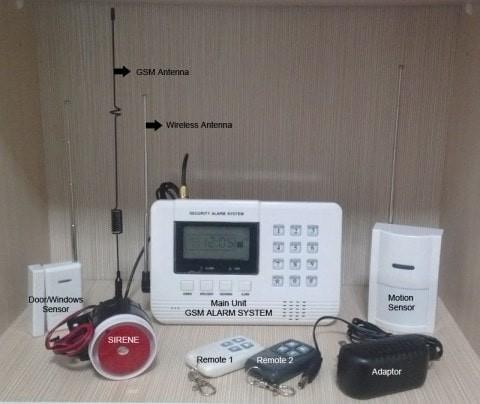 harga Paket security alarm gsm rumah gudang toko dll with lcd screen 433mhz Tokopedia.com