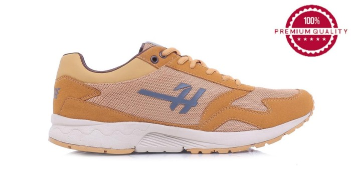Hrcn sepatu sneakers pria cream - h 5393