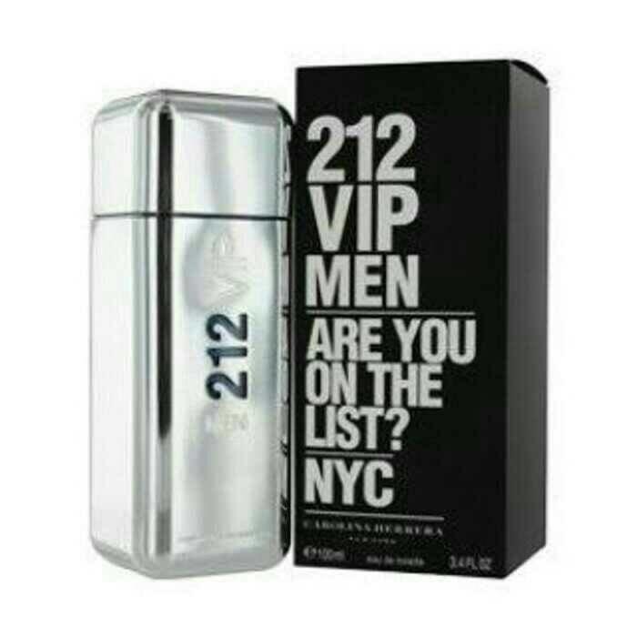 Parfum Ori Eropa nonbox 212 VIP Men Carolina Herrera 100 ml