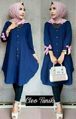 Baju Atasan Wanita Terlaris Tunik Baju Muslim Blus Muslim Cleo Tunika