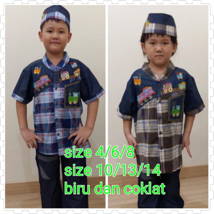 Baju Koko Anak Setelan Set Kombinasi Rafailah 1