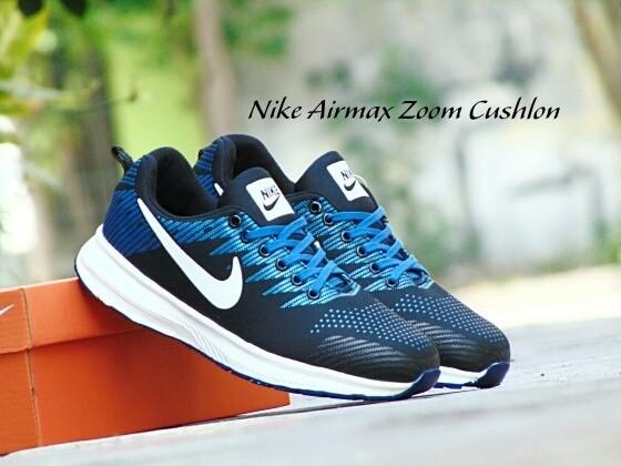 harga Sepatu sport nike airmax zoom cushlon / biru navy putih / kets pria Tokopedia.com