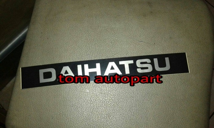 harga Stiker platnomor platnumber daihatsu feroza taft Tokopedia.com