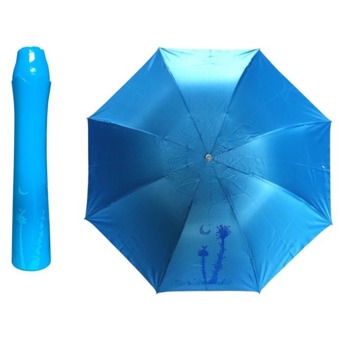 Payung lipat desain vas bunga rose blue