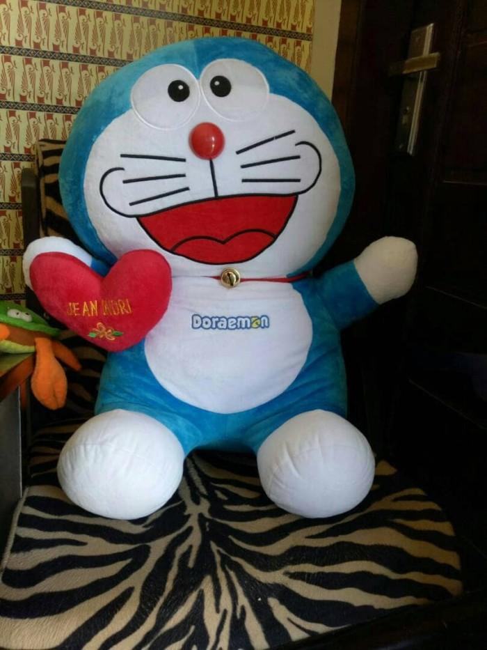 GRATIS BANTAL NAMA Boneka Doraemon Jumbo Tertawa 65 CM .