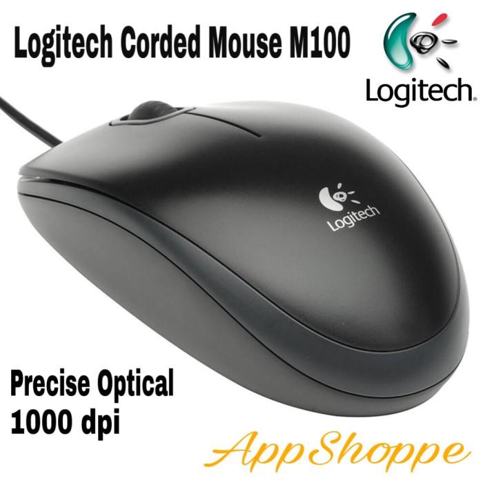 847e70ab80f Mouse kabel logitech m100 1000dpi wired usb optical mouse harga ...