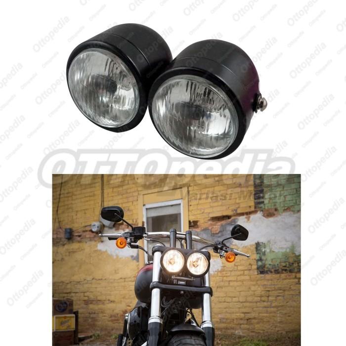 harga Reflektor / headlamp / head lamp / lampu depan double harley japstyle Tokopedia.com