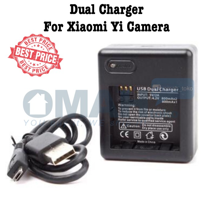 harga Dual battery charger for xiaomi yi battery - black Tokopedia.com