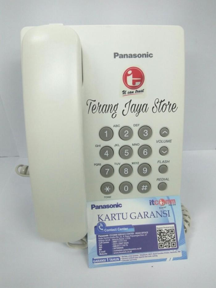 Foto Produk Telepon Kabel Panasonic KX-TS505MX (Putih) Pesawat Telepon RumahTS 505 dari Terang Jaya Store