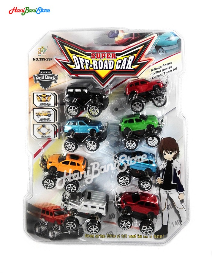 harga Mainan diecast mobil super off road car playset 8 dengan per pegas Tokopedia.com