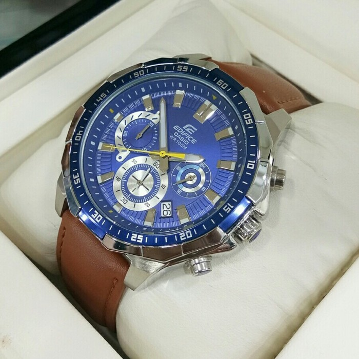 harga Jam tangan pria casio edifice efr-539l leather strapp Tokopedia.com