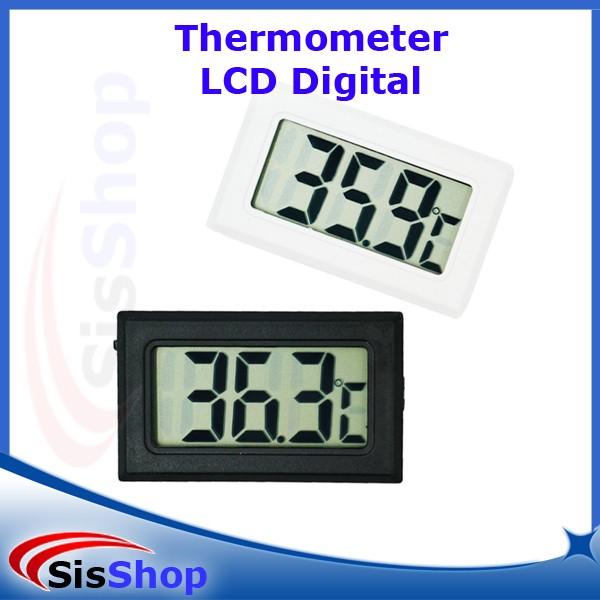 THERMOMETER SUHU DIGITAL LCD ALAT UKUR TEMPERATUR TERMOMETER - Putih