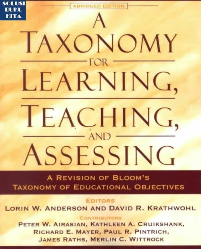 harga A taxonomy for learning teaching and assessing a revision of bloom`s Tokopedia.com