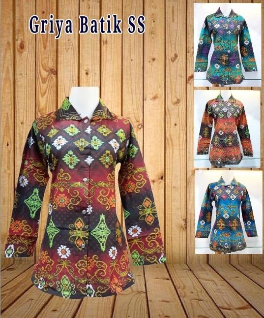 harga Blouse Batik Modern | Blus Batik Motif Baru | Baju Batik Terbaru Tokopedia.com