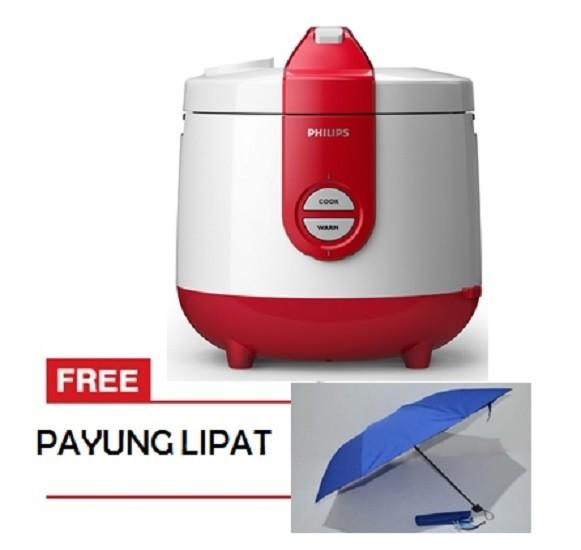 harga Rice cooker philips 2 liter hd3118 - putih merah free payung lipat Tokopedia.com