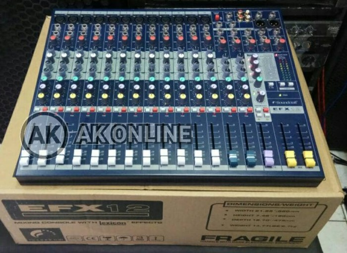 harga Mixer professional soundcraft efx 12 Tokopedia.com