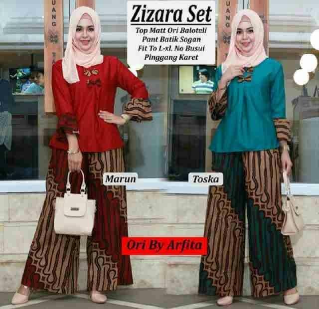 harga Celana dan blus batik solo. cnb kulot batik parang zizara set series Tokopedia.com