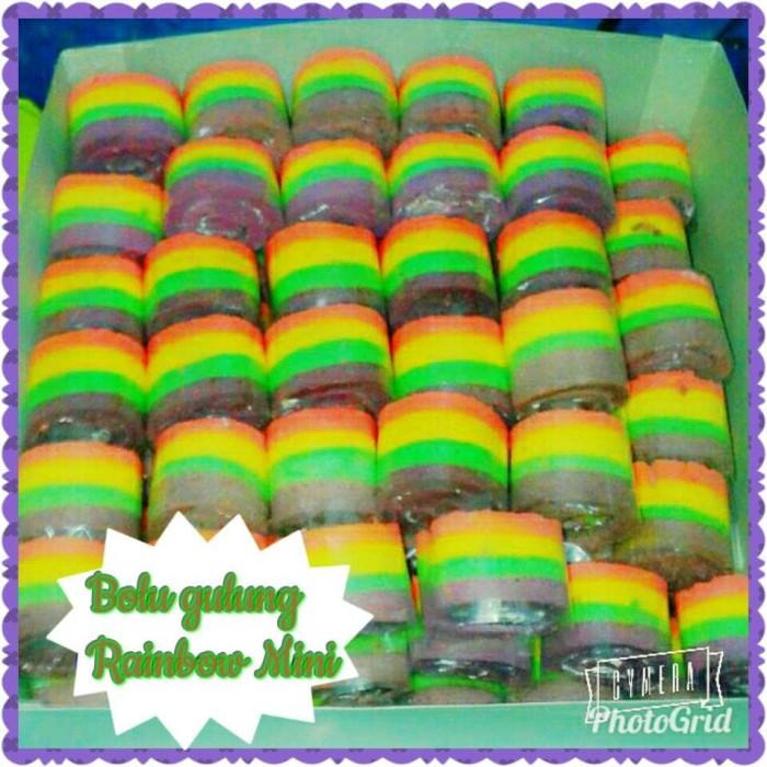 Jual Bolu Gulung Mini Rainbow Bolu Gulung Mini Lembut Bolu Gulung