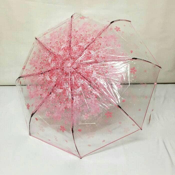 harga Payung transparan sakura cantik bening korea lipat tongkat unik hujan Tokopedia.com