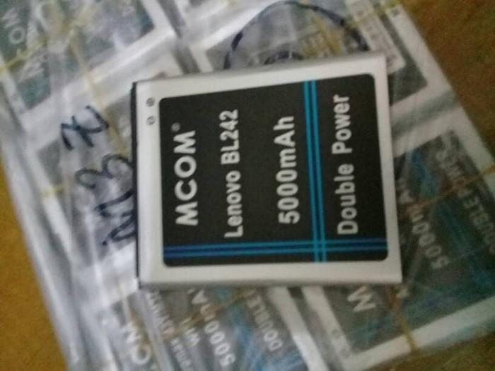 harga Baterai lenovo a6000 kode bl242 bl-242 double power mcom Tokopedia.com
