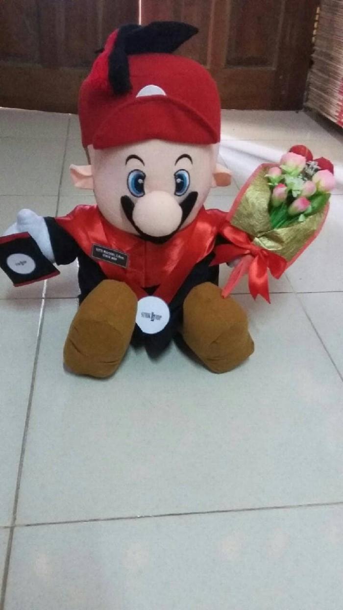 harga Boneka wisuda mario bros 25cm + buket bunga/mario bross custom wisuda Tokopedia.com