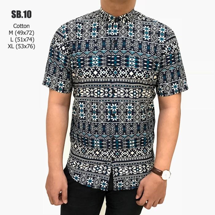 Tosca Daftar Source · SB10 kemeja batik pria cowok lengan pendek motif songket .