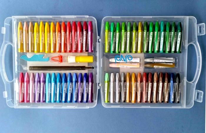 Jual Crayon Titi Oil Pastel 55 Colours Krayon Minyak 55 Warna Kota
