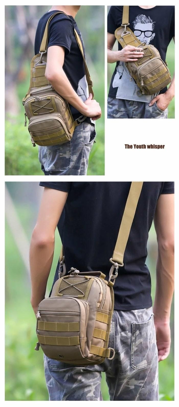 Jual Tas Selempang Pria Wanita Army Import Ransel Slempang Satu Tali T1