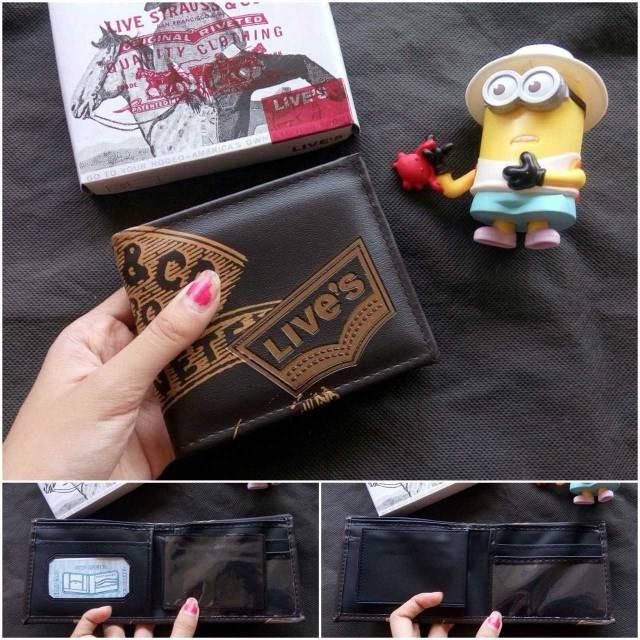 Foto Produk Dompet pria Branded Levis coklat dompet cowok murah lipat dari MonmonShopSBY