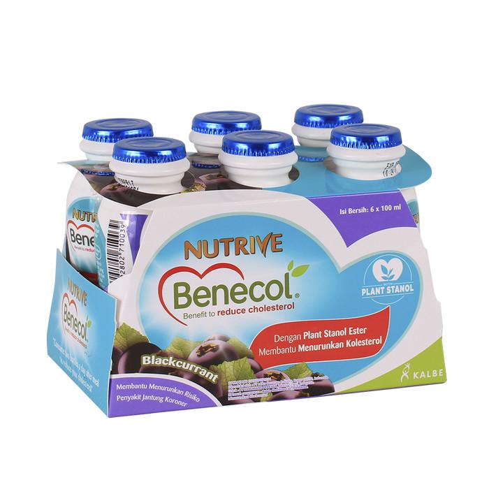 nutrive benecol no added sucrose blackcurrent 6x100ml