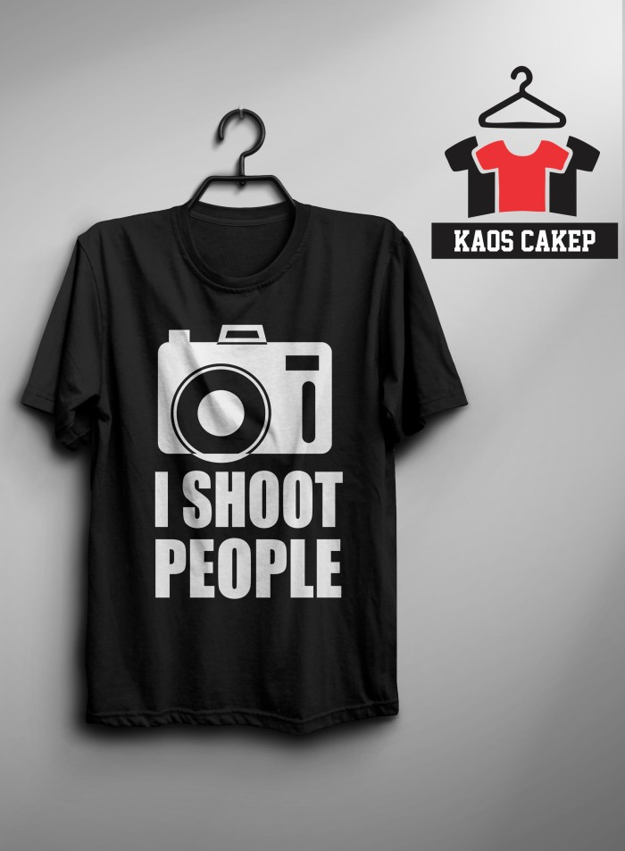 Kaos/ Tshirt I Shoot People Murah Keren
