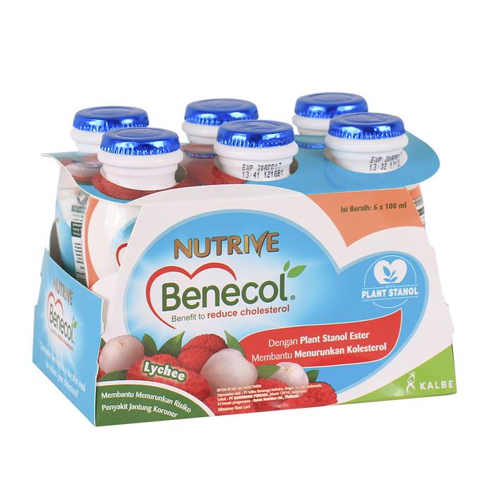 nutrive benecol no added sucrose lychee 6x100ml