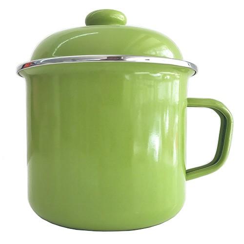 harga Gelas mug enamel hijau muda & tutup 12cm Tokopedia.com
